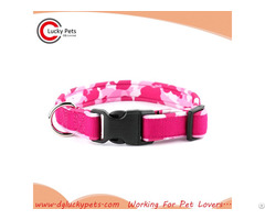 Custom Design 6 Colors Plastic Buckle Dog Collars Wholesale