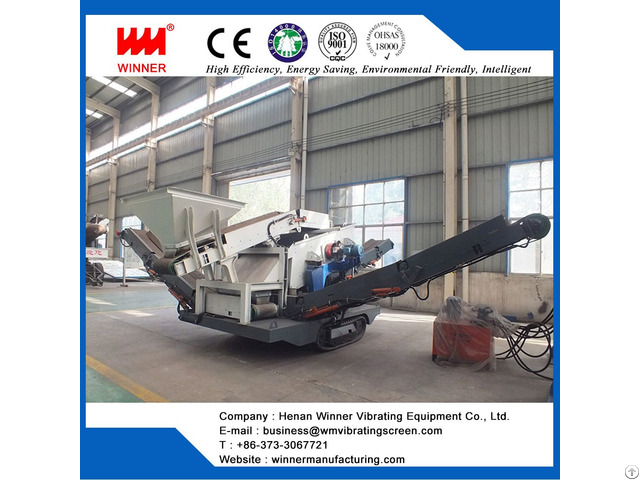 Crawler Moving Crushing Station For Waste Recycling