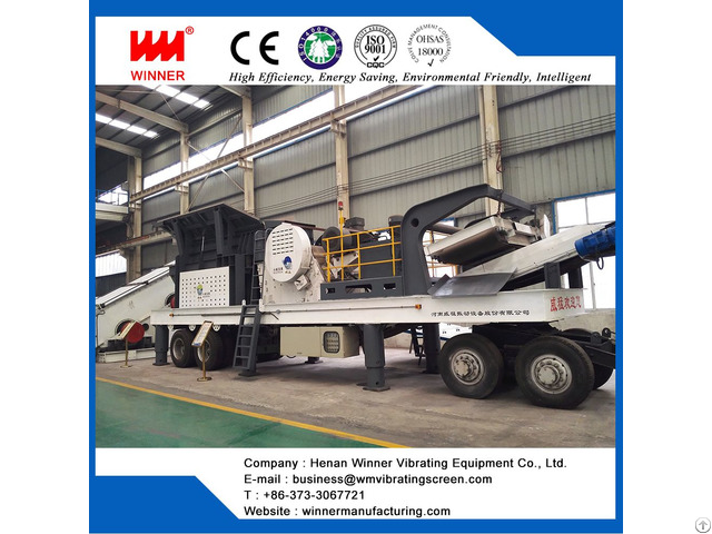 Tire Type Mobile Crushing Station For Railways
