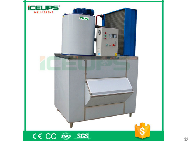 Flake Ice Making Machine 2000kg Day With Ce Approved Plc Control System Made In China