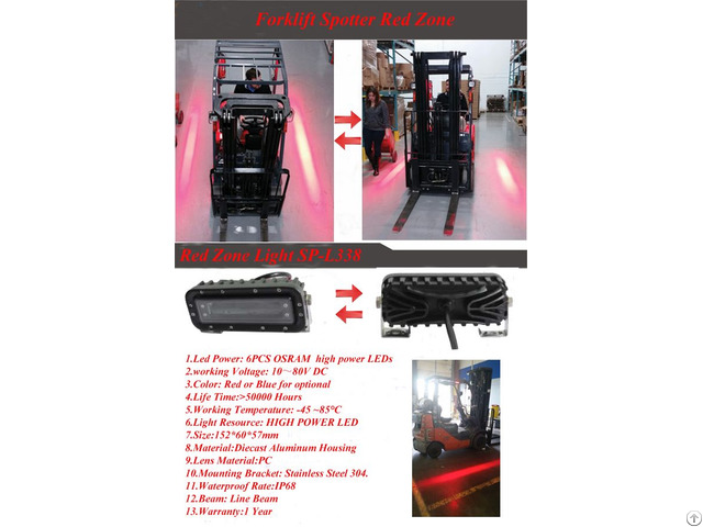 Forklift Red Zone Safety Light