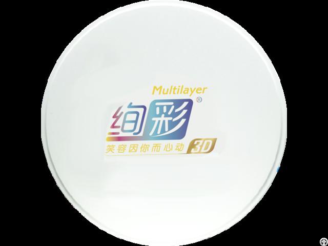 Aidite Multilayer 3d Dental Zirconia Restoration Mateiral Thickness12mm Amann Girrbach Cadcam