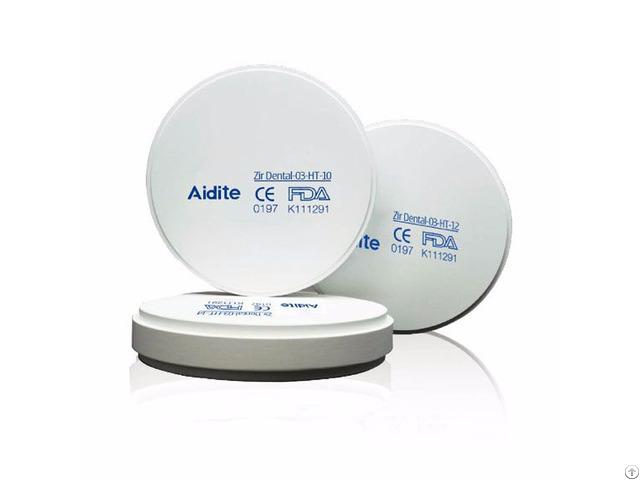 Aidite Superfectzir Sht Dental Zirconia Restoration Mateiral Thickness12mm Amann Girrbach Cadcam