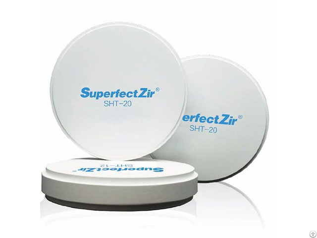 Aidite Superfectzir Sht Dental Zirconia Restoration Mateiral Thickness12mm Wieland Cadcam