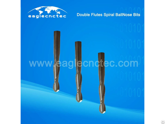 Ball Nose Double Flutes Upcut Spiral Router Bit For Sale