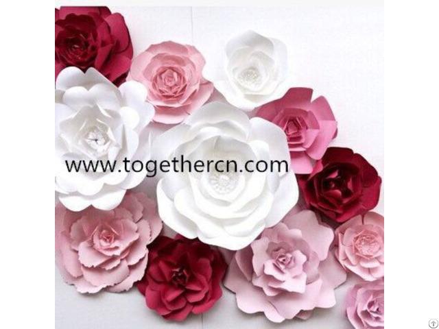 Wedding Paper Flower Wall