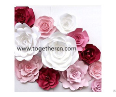 Wedding Paper Flower Wall