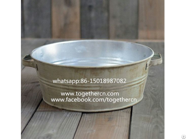 Sell Baby Photo Props Rustic Metal Bowl