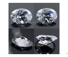 Semi Precious 6x8mm Oval Shape Cz White Cubic Zirconia Stone