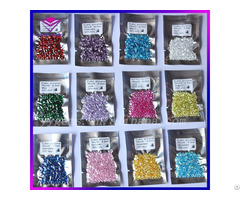 Twelve Colors 4mm Brilliant Round Shape Cubic Zirconia Corundum Birthstones