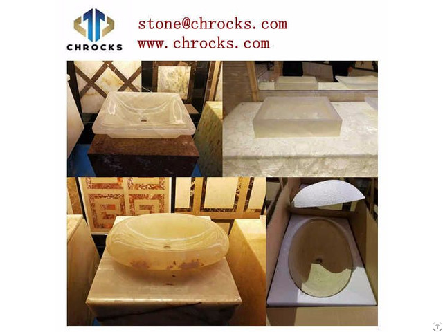 Bathroom Stone Basin Onyx Sink