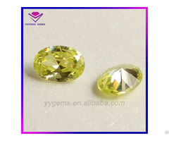 8x10mm Oval Cut Cz Yellow Cubic Zirconia Gemstone From Wuzhou