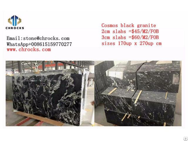 China Cosmos Black Granite Slab