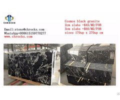 China Cosmos Black Granite Slab