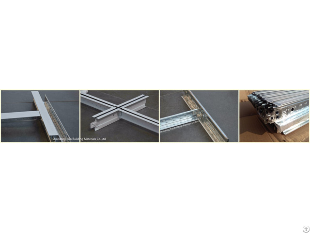 Suspended Ceiling Flat T Gird Metal Frame