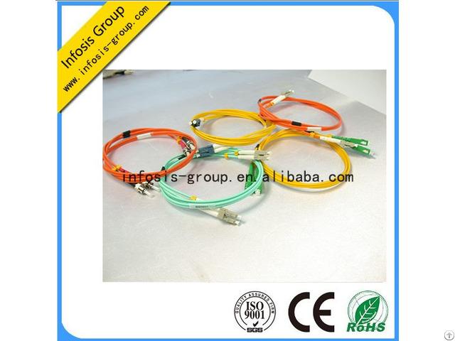 Lc Sc 10g Om3 Duplex Mm 50 125 2 0mm 1mtr Aqua Color Fiber Optical Patch Cords