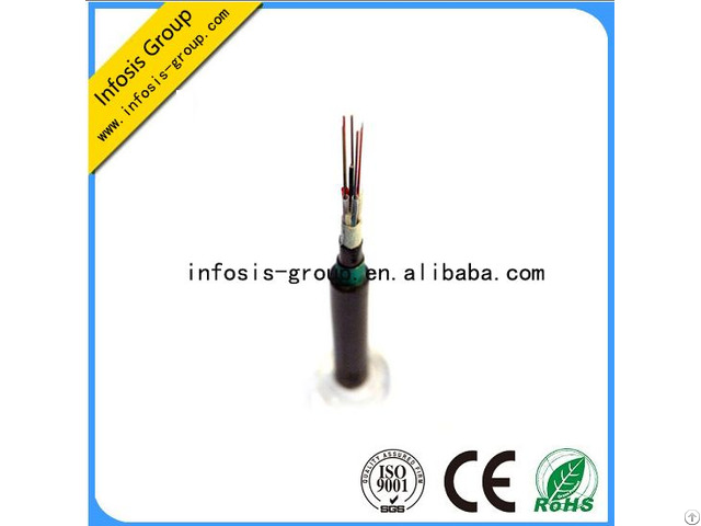 Multi Mode Double Sheath Armored Central Loose Tube Fiber Optic Cable Gyfxty53