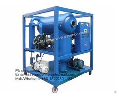 High Vacuum Electrical Transformer Insulating Oil Dehydration And Purification Machine
