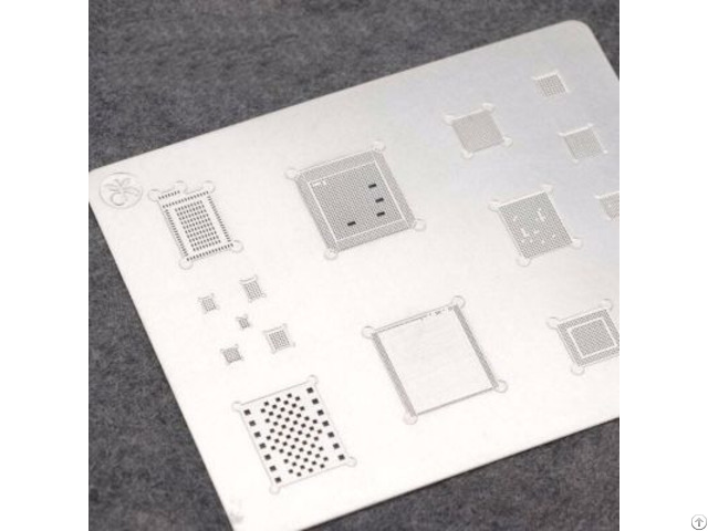 Mj 3d Bga Reballing Stencil Template For Phone A8 A9 A10 Groove Tin Steel