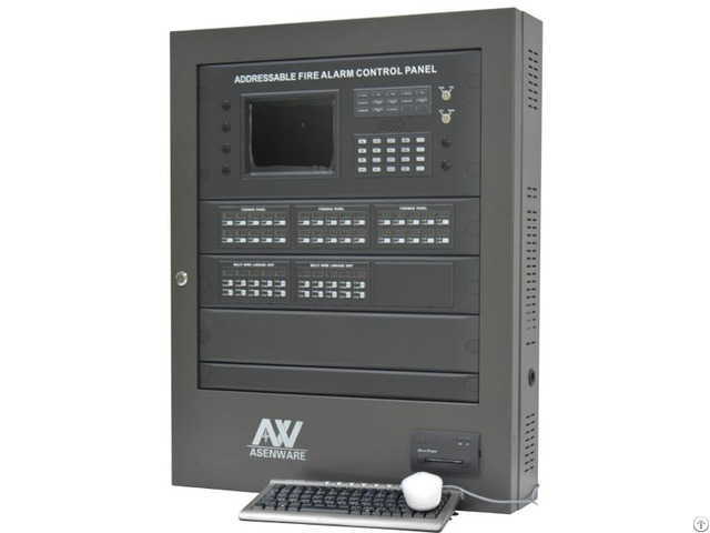 Addressable Fire Alarm Control Panel Aw Afp2100 For Big Project
