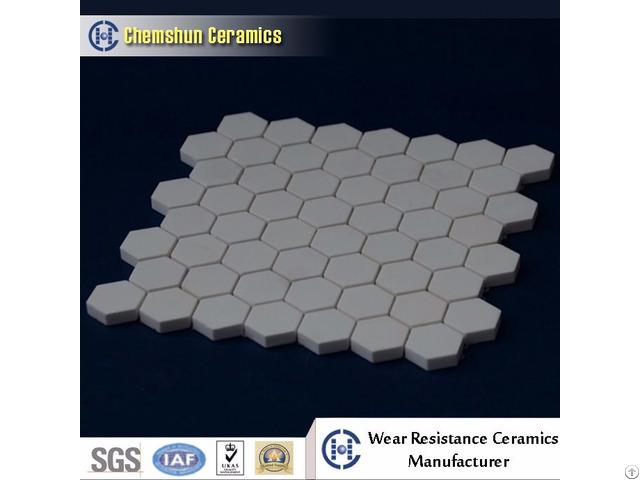 China Manufacturer Supplied Hexagonal Tile Sheet As Wear Ceramic Liner