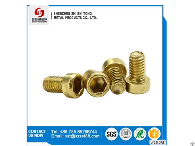 New Product Oem M8 Hexagon Brass Screw In Furniture Casters