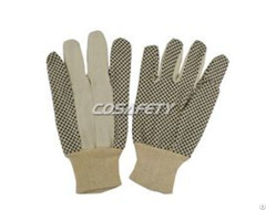 Pvc Polka Dots Cotton Gloves 6008