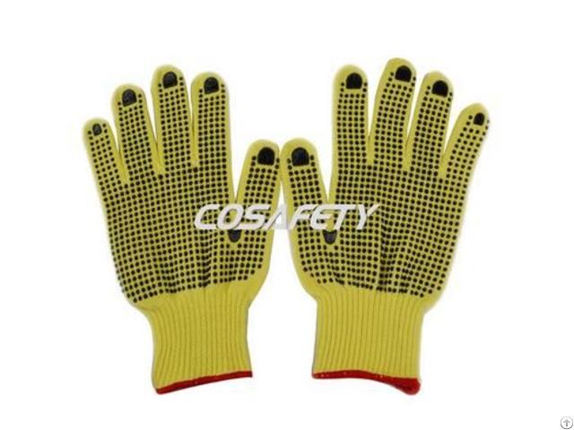 Aramid Fiber Gloves With Pvc Dots