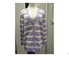 Hand Beaded Sweater Cardigan Knits Cashmere Women Tops
