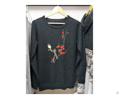 Black Sweater Womens Tops Knits Pullover Intarsia