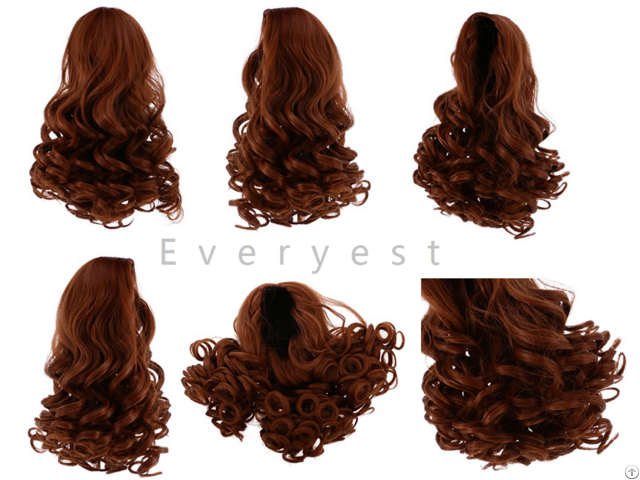 Twenty Eight Cm High Temperature Long Curly Heat Resistant Doll Wigs