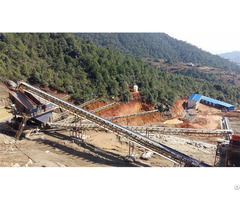 V Belt Conveyor For Convenient Stone Transportation In Rock Production Line
