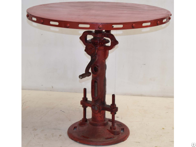 Industrial Crank Jack Round Table