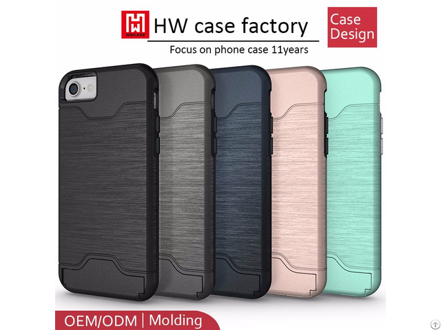 Hybrid Combo Tpu Pc Case For Iphone 7 Card Slot