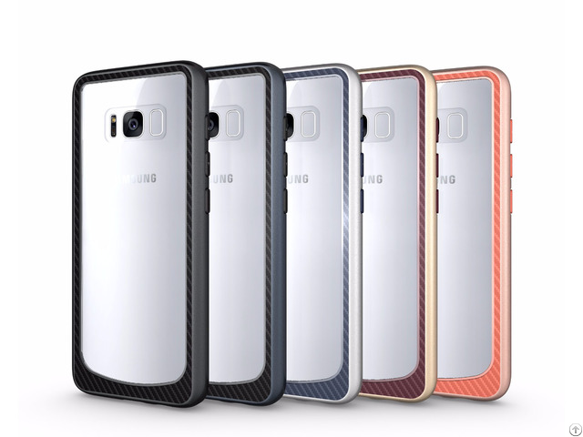Top Quality Durable And Anti Shock Clear Pc Tpu Bumper Cover Case For Samsung Galaxy S8