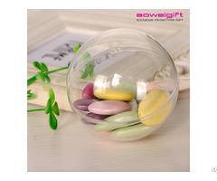 Custom Clear Plastic Christmas Ball Ornament Transparent Hollow Candy Box
