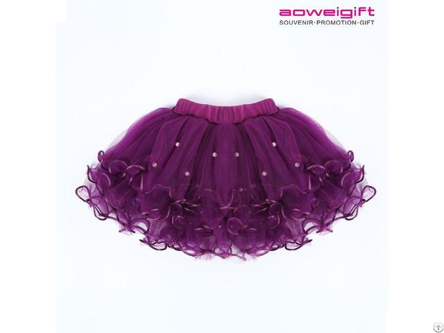 Summer Girls Tutu Fancy Dress Stage Performance Cake Bubble Skirt