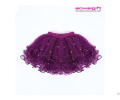 Summer Girls Tutu Fancy Dress Stage Performance Cake Bubble Skirt