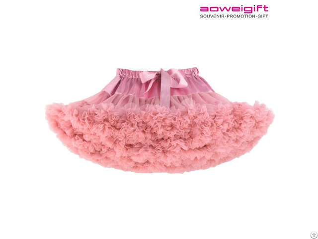 Girls Tutu Dress Ballet Stage Clothes Double Gauze Fabric Kids Bubble Skirt