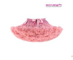 Girls Tutu Dress Ballet Stage Clothes Double Gauze Fabric Kids Bubble Skirt