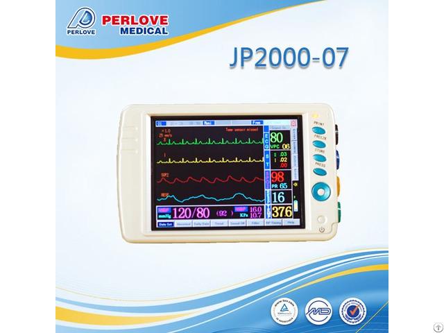 China Portable Multi Parameters Vital Signs Patient Monitor Jp2000 07