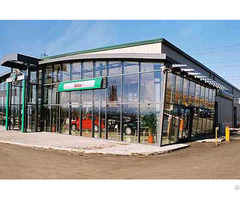 Car Showroom Built With Steel Structure