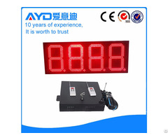 Red 12 Inch 7 Segment Gas Station Led Price Sign