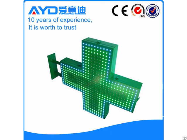 Manufacture Supply Led Green Pharmacy Cross Sign Board