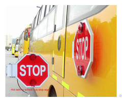 School Bus Stop Sign Automatic Arm With Flashing