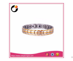 Therapy Stainless Steel Baracelet With Energy Stones