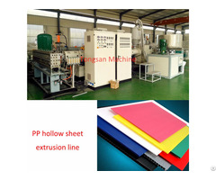 Pp Corrugated Hollow Sheet Extrusion Machine
