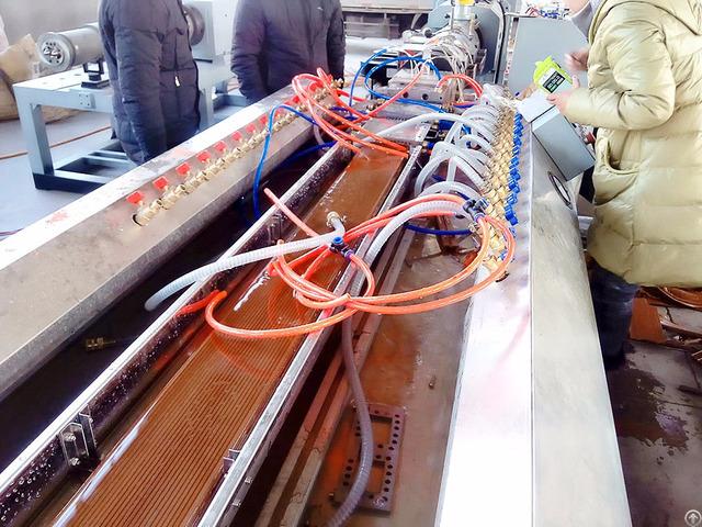 Pe Wood Plastic Composite Wpc Decking Profile Extrusion Machine