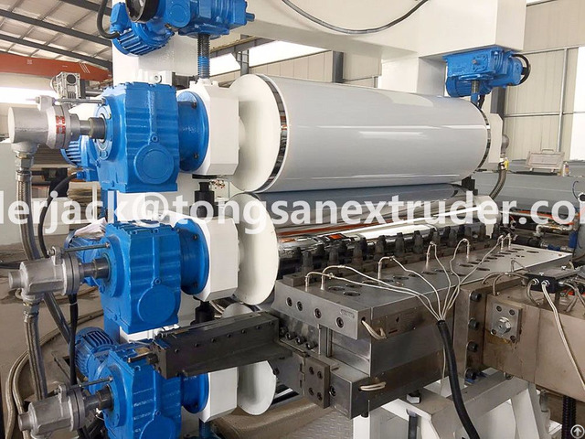 Pp Pe Hdpe Ps Hips Pet Pmma Abs Sheet Extrusion Machine