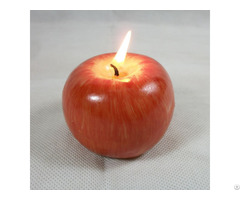 Custom Christmas Gift Apple Shaped Candle Decoration Red Wax Candles